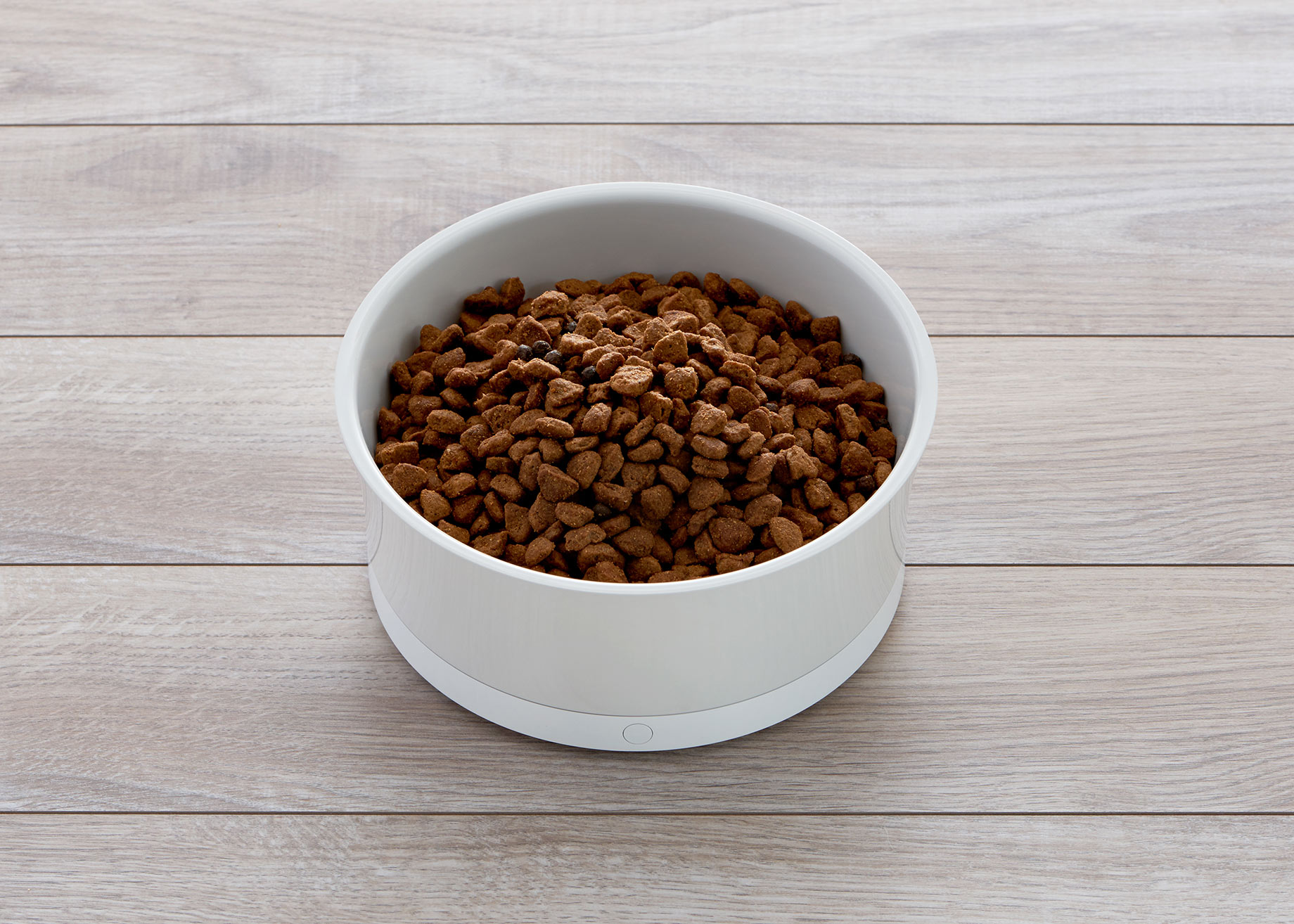 A smart dog food bowl by ObeDog photographed by Commercial Photographer, Peter Samuels.